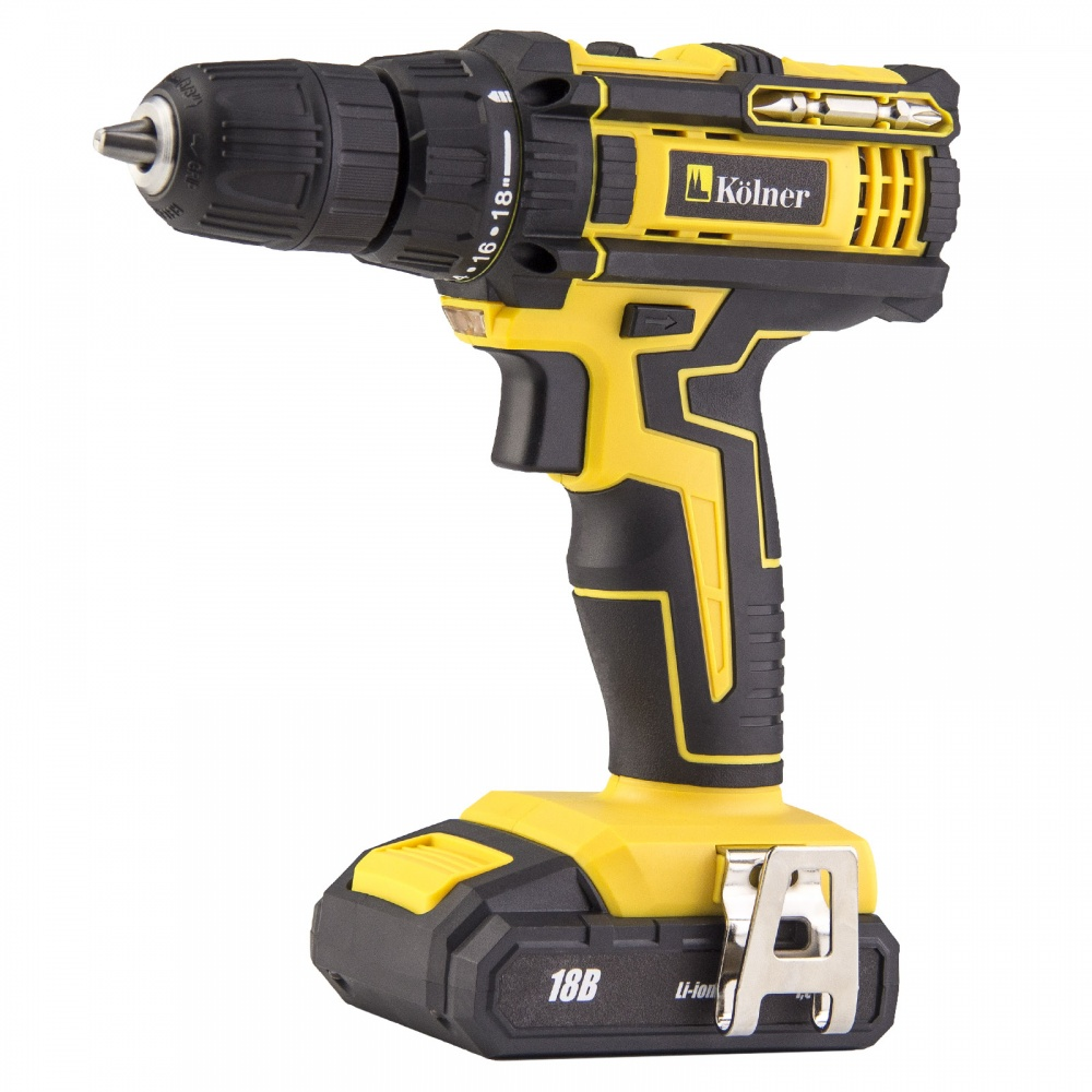 Cordless Drill/Driver Kolner KCD 18/2L 1 18 figure driver sets