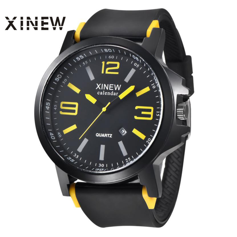 Essential XINEW Vintage Classic Men's Waterproof Date Leather Strap Sport Quartz Army Watches 17Tue13 247 classic leather