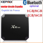 X96 mini tv box Android 7.1 bluetooth optional 2G 16G 1G 8G Amlogic S905W Quad Core Suppot H.265 4K 2.4G WiFi iptv box europe