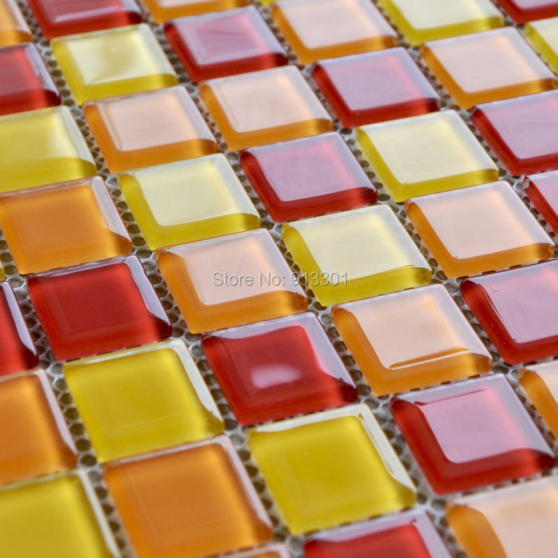 crystal glass tile backsplash cheap stained glass mosaic