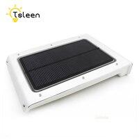 TSLEEN 4Pcs Ultra thin 46 LED Solar Light Outdoor Garden PIR Motion Sensor Luminaria LED Wall Light Solar Lamp Garden Decoration