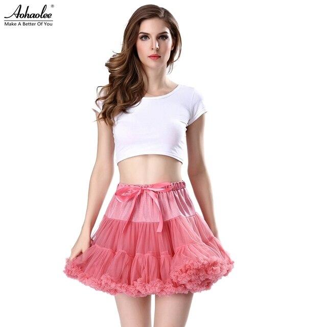 32b050c76363 Hot Fashion Women's 50s Vintage Rockabilly Petticoat Tulle Skirts For Women  Tutu Skirts Crinoline Underskirt Fluffy Mini Skirts