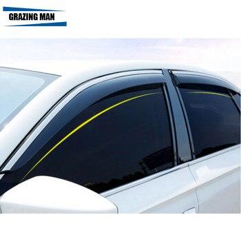 Sun visor High quality PP material car Window Visor Wind Deflector Sun Rain Guard Defletor for REIZ 2007