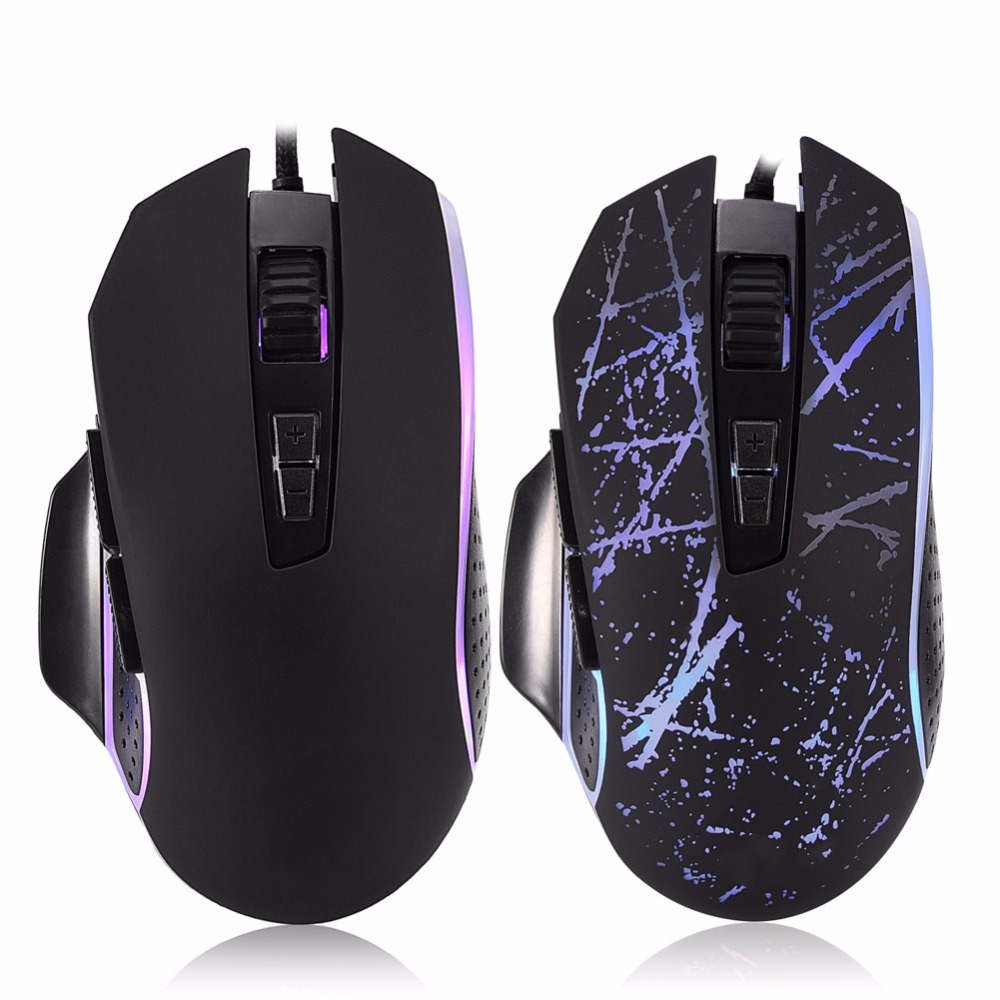 Ergonomic 3200 DPI Computer USB Wired Gaming Mouse LED Shining Light for PC/ Laptop