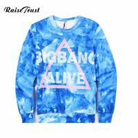 Men Women 3d Sweatshirts Printing Blue Hoodies Palace Spring Autumn Long Sleeves Pullover O Neck Hooded