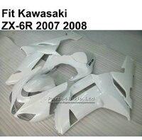 high quality ABS fairings for Kawasaki Ninja 636 ZX6R 07 08 fairings kit white ZX 6R 2007 2008 TY109