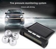 4 External Sensors Car Alarm Security system font b TPMS b font Tire Pressure Alarm Monitoring