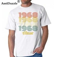 c3f26670 Camisetas 2018 Retro 1968 Classic 50 years old birthday T shirt men 50th  birthday T-