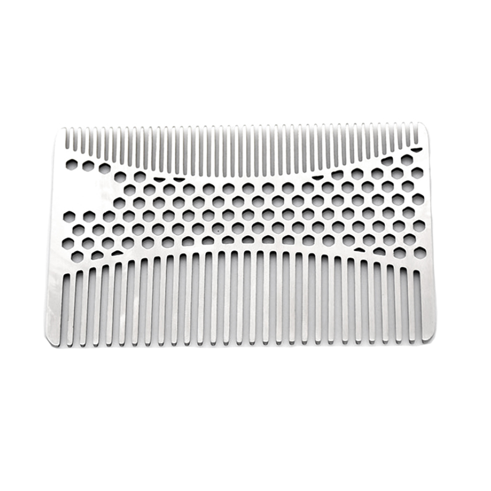 1pc Stainless Steel Mustache Comb Beard Comb For Men's Shaving Mustache Brush Facial Hair Brush Grooming Tool