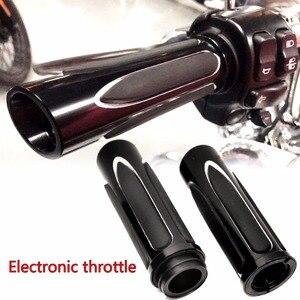 Image 1 - Poignées à main confort pour modèles Harley, coupe peu profonde, doux et tactile, Touring Street slide Road King avec accélérateur à fils électriques, 2008 2018