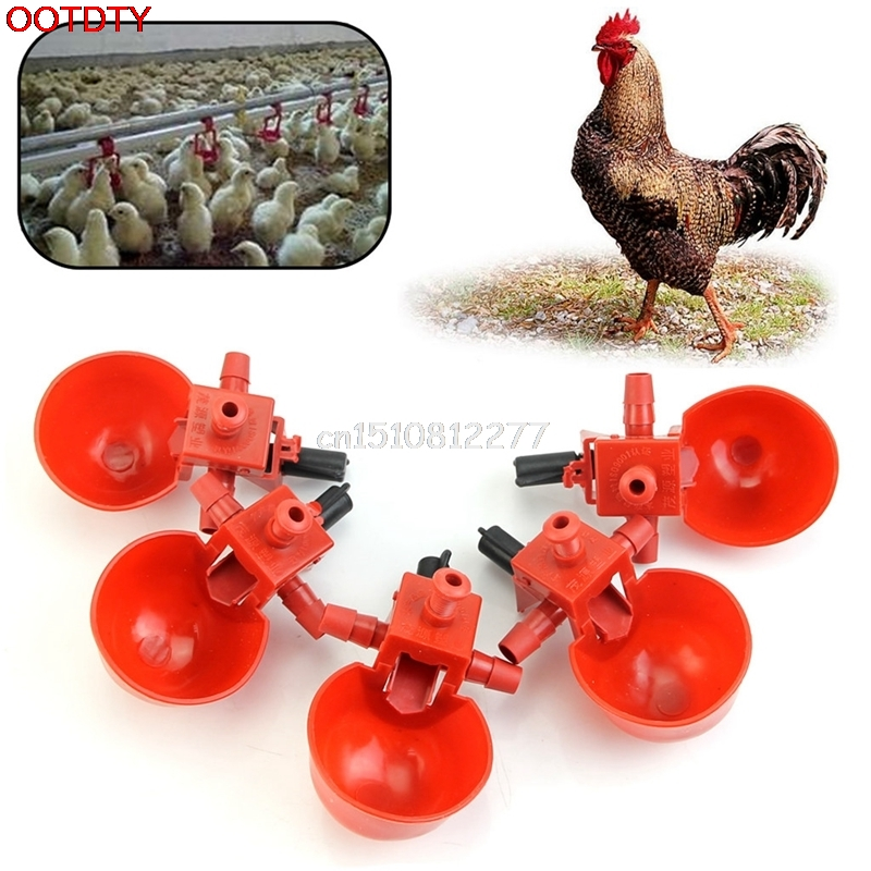 5Pcs Feed Automatic Bird Coop Poultry Chicken Fowl Drinker Water Drinking Cups #H0VH# ...