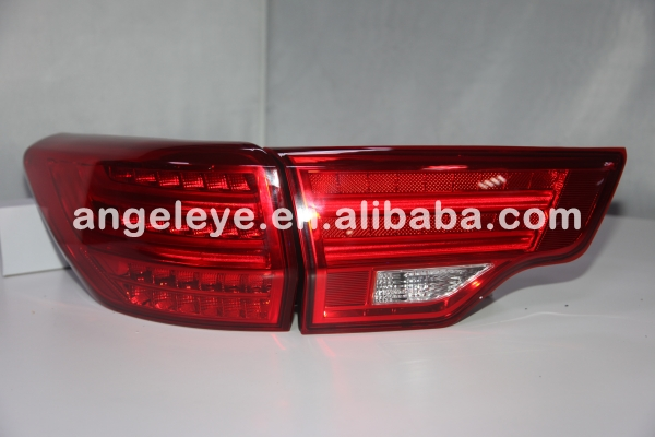 2014-2015 year For Toyota Highlander LED Rear Lights Taillamp Red Color WH