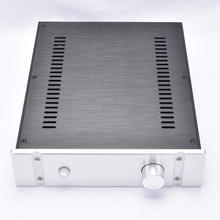 KYYSLB 260*70*311MM DIY Box 2607B All Aluminum Amplifier Chassis Case Preamplifier Chassis Amp Enclosure Housing with Louvers