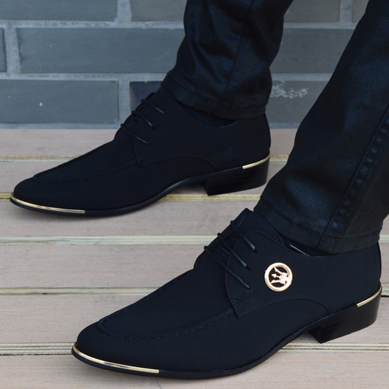 New Style Cloth Oxford Shoes for Men Dress Wedding Shoes Leather Office Men Flat Shoes Height