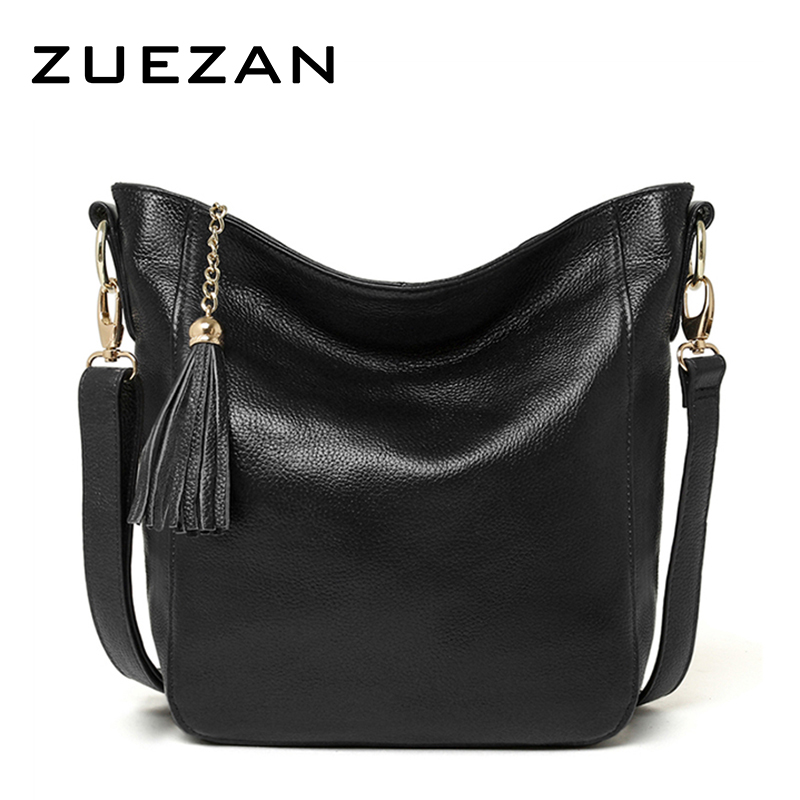 Everyday Use 100 cowhide Female Tassels HOBO Women GENUINE LEATHER Shoulder bag Top Layer Leather Messenger