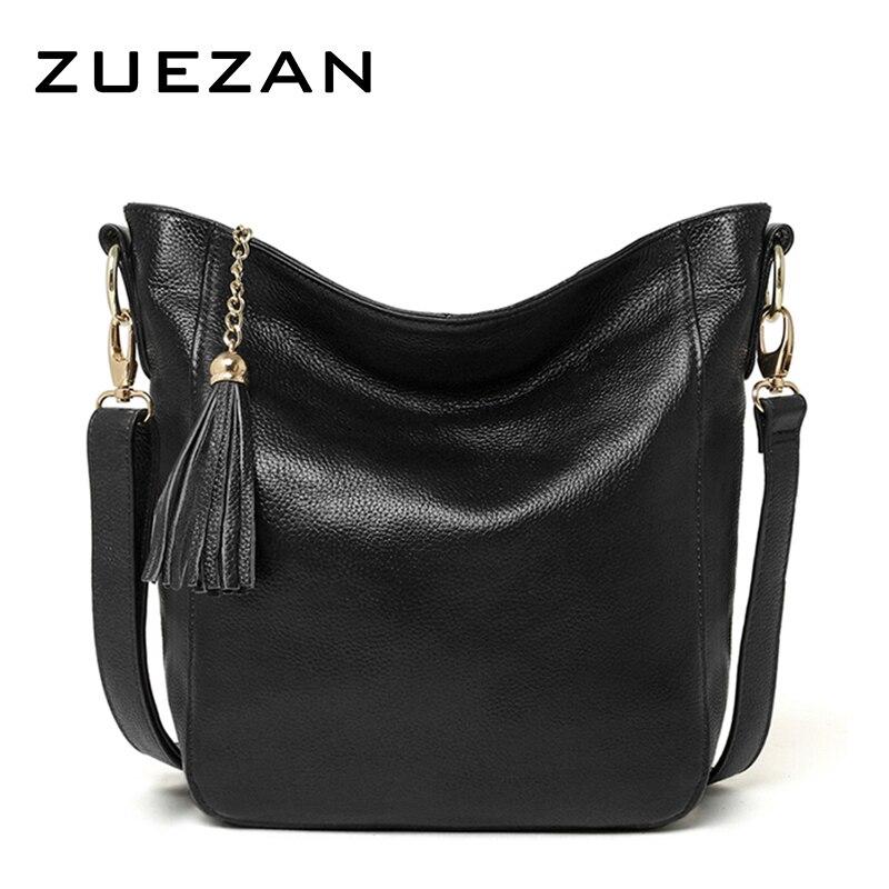 Everyday Use 100% cowhide Female Tassels HOBO,Women GENUINE LEATHER Shoulder bag, Top Layer Leather Messenger Crossbody bag A066