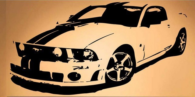 Aliexpresscom Buy Popular Race car Wall Sticker Mustang Race Car