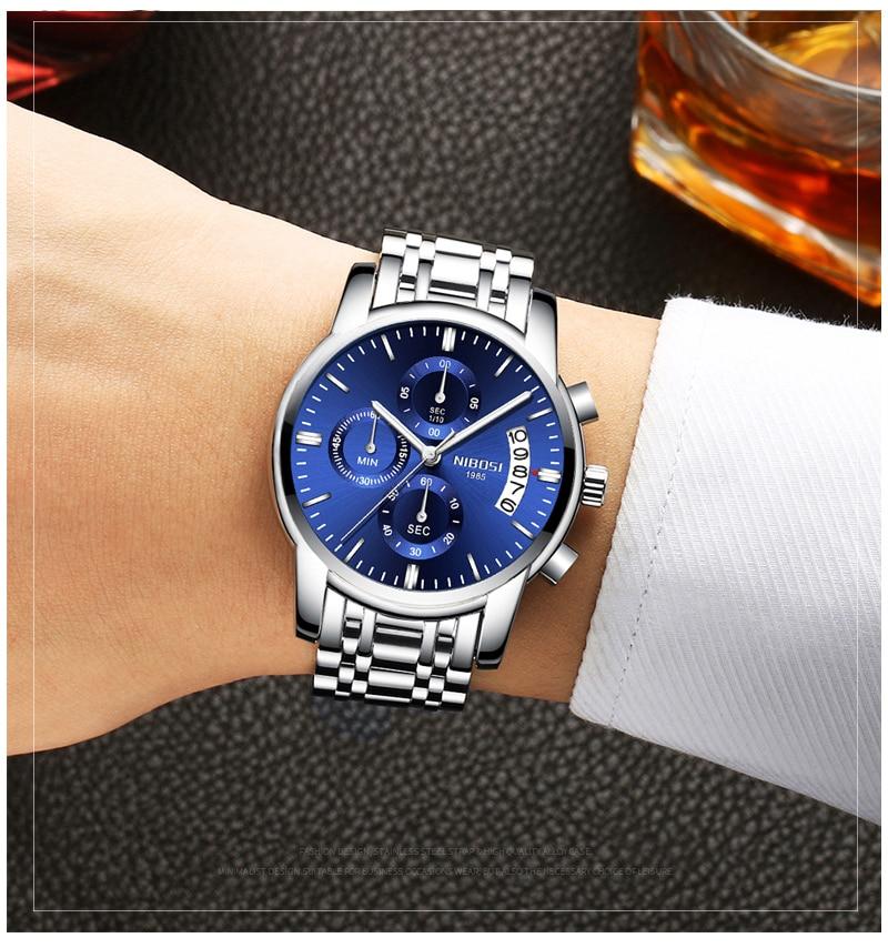 Relogio Masculino NIBOSI Mens Watches Top Brand Luxury Dress Famous Brand Watch Men Waterproof Calendar Luminous Erkek Kol Saati (14)