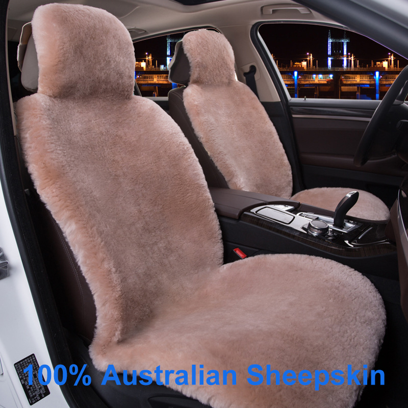 KAWOSEN 100 Real Whole Sheepskin Cashmere Car Seat Cover Super Warm Fur Car Seat Cushion Wholesale