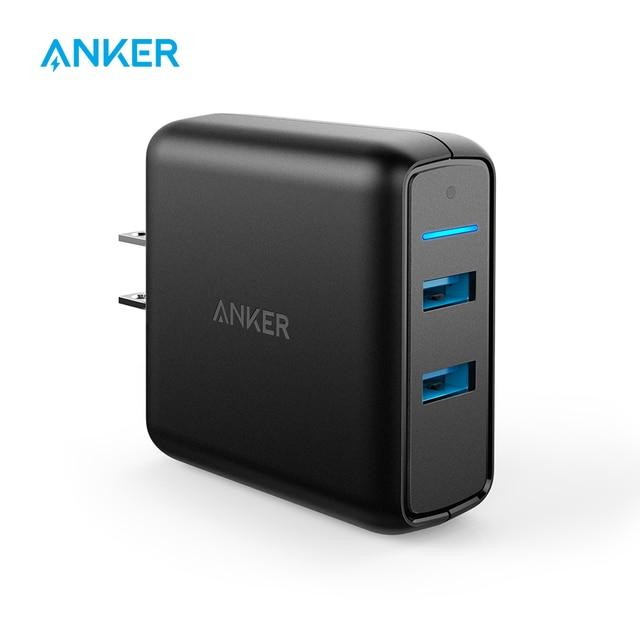 Anker carga rápida 3,0 39 W cargador de pared USB Dual PowerPort velocidad 2 para Samsung Galaxy powerIQ para iphone ipad LG, Nexus, HTC, etc.