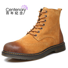 Winter 2018 men army boots low heel casual  leather shoes