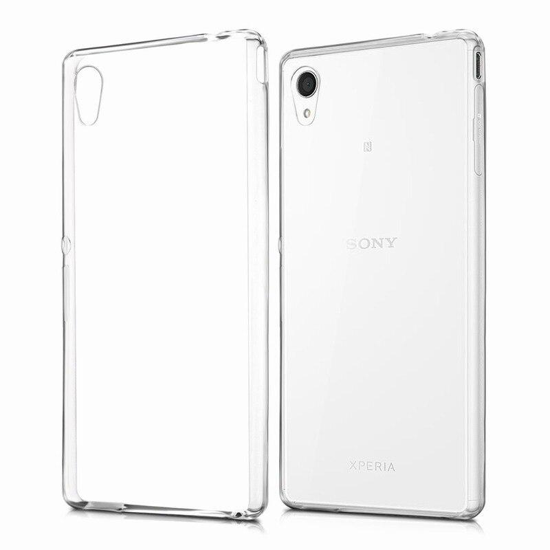 01c3a0e610b 10PCS Simply stylish TPU silicone Cover for the carcasas fundas Sony Xperia  M4 Aqua Case m4aqua in Transparent capa para celular