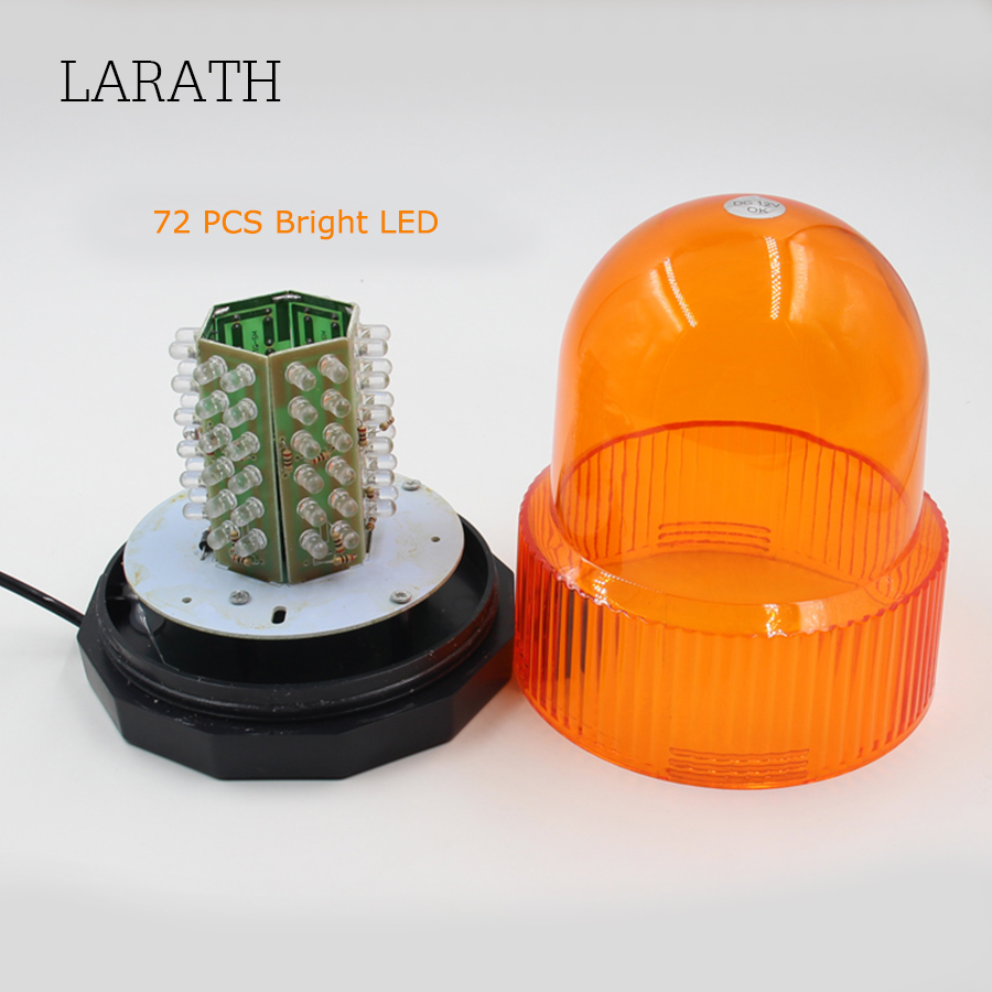 LARATH Red/Yellow/Blue 72 LED Strobe Light 12/24V Super Bright Car Truck Van Warning Flasher Caution Emergency Light Flashlight wdm 300mm traffic light one aspect red led flasher