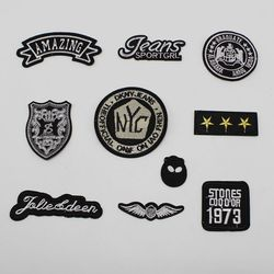 1 pièces bricolage insigne patchs pour vêtements logo brodé patch fer sur patch vêtements accessoires
