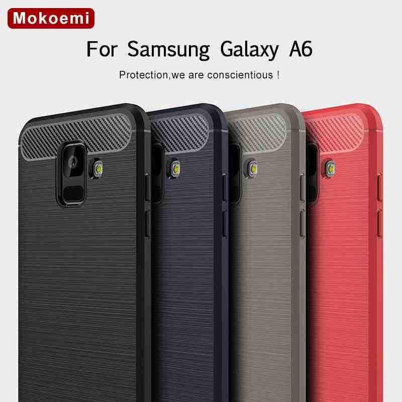 "Mokoemi Shock Proof Soft Silicone 5.6""For Samsung Galaxy A6 2018 Case For Samsung Galaxy A6 Plus 2018 Cell Phone Case Cover"