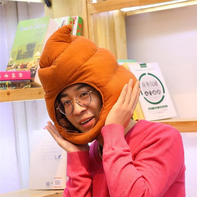 Lucu Kotoran Topi Mewah Mainan Boneka Kreatif Tetap Hangat Hat Mainan untuk  Anak-anak Gadis Ulang Tahun Teman Hadiah Tahun Baru Hadiah d1c183e534