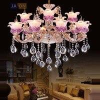 Led E14 European Alloy Crystal Glass Chandelier Lighting LED Lamp LED Ligh For Foyer Bedroom Dinning