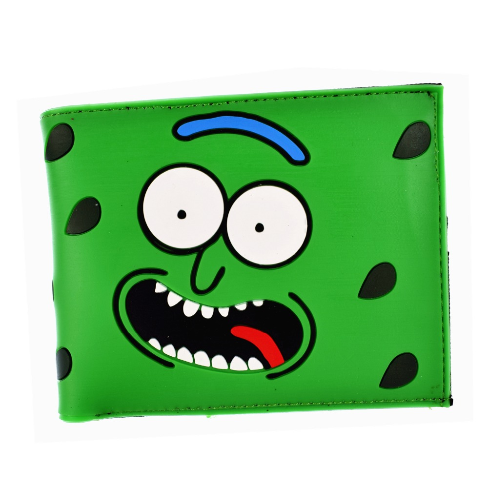 New Anime Cartoon Rick And Morty Short Wallet With Coin Pocket Card Holder Purse
