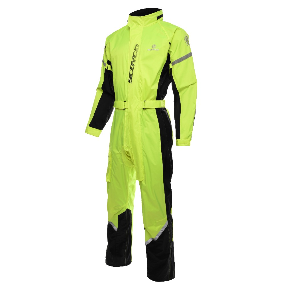 Scoyco RC01 Motorcycle Rain Coat Pants Set Sports Waterproof Jacket Suit Men M
