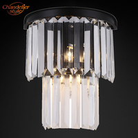 Odeon Винтаж Ретро Crystal Prism бра ламповое освещение приспособление для дома жизни и Обеденная отель Декор для ресторана
