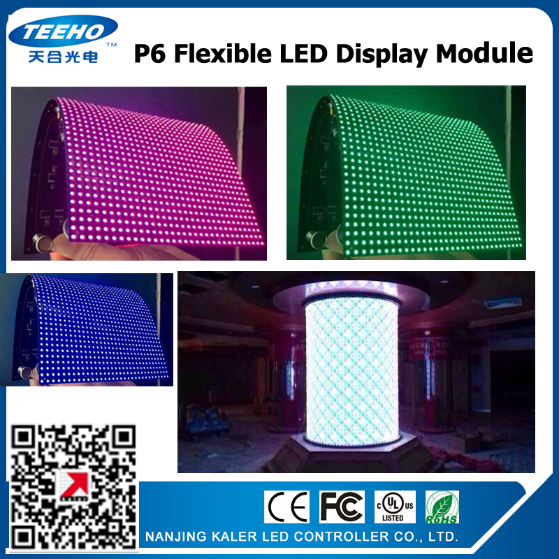 kaler SMD3535 p6 led module indoor flexible LED Display module soft display led panel creative LED display screen video wall