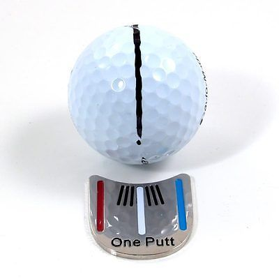 Free Shipping One Putt Golf Putting Alignment Aiming Tool Ball Marker with Magnetic Hat Clip wholesale