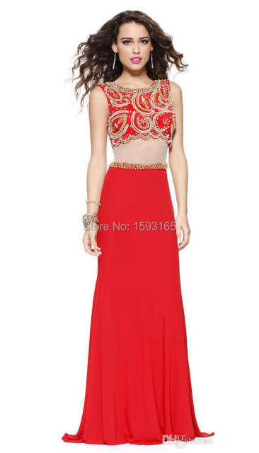 3b5bd2dabc1 Black Red Prom Dresses 2015 Scalloped Short Sleeves Two Piece Prom dresses  Beaded Bodice vestidos de fiesta tallas grandes