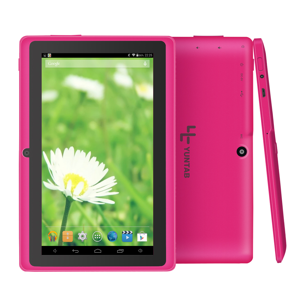 Yuntab tablet 7 inch Q88 Tablet PC, Android 4.4 Allwinner A33, 512MB+4GB Quad core Dual camera WIFI OTG External 3G, Google play yuntab 7 inch q88 allwinner a33 quad core 512mb 8gb android 4 4 kids tablet pc hd screen dual camera