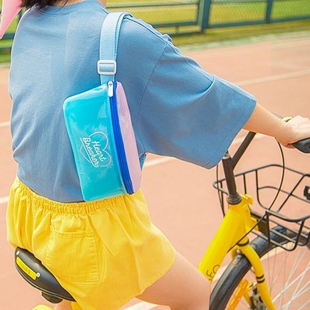Bentoy gelée imperméable femmes PVC taille Pack sac à bandoulière pour femmes filles décontracté mignon sangle poitrine sac à bandoulière
