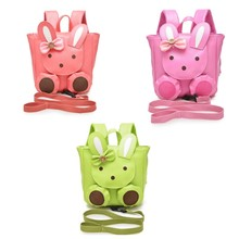 High Quality PU Leather Baby Keeper Cute Rabbit Anti lost Walking Backpack Child Keeper Security Baby