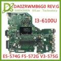 KEFU E5-574G материнская плата для Acer Aspire E5-574 E5-574G F5-572 V3-575 материнская плата V3-575G ЦП DA0ZRWMB6G0 тест оригинал