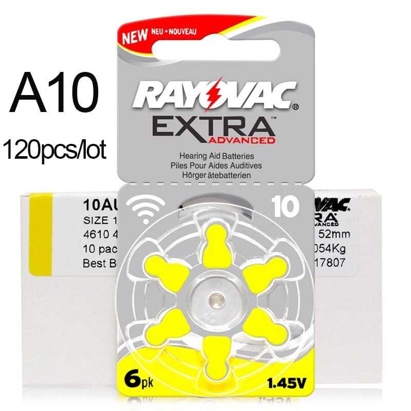 120 PCS Zinc Air Rayovac Extra Performance Hearing Aid Batteries A10 10A 10 PR70 Hearing Aid