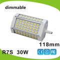 High power 118mm led R7S light 30W dimmable J118 R7S lamp without fan replace 300W halogen lamp AC110-240V