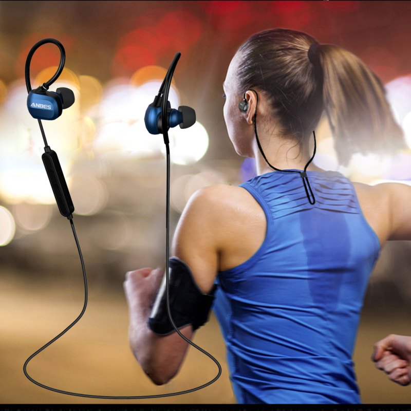 Bluetooth Headphones Sports Wireless Stereo Music Earphones Waterproof Headsets with Mic for Android and iOS Smartphone