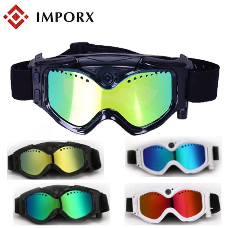 New HD 720P Outdoor skiing goggles Wifi Camera Digital Audio Video Mini DVR Sunglasses Smart Glasses Mini DV Camera