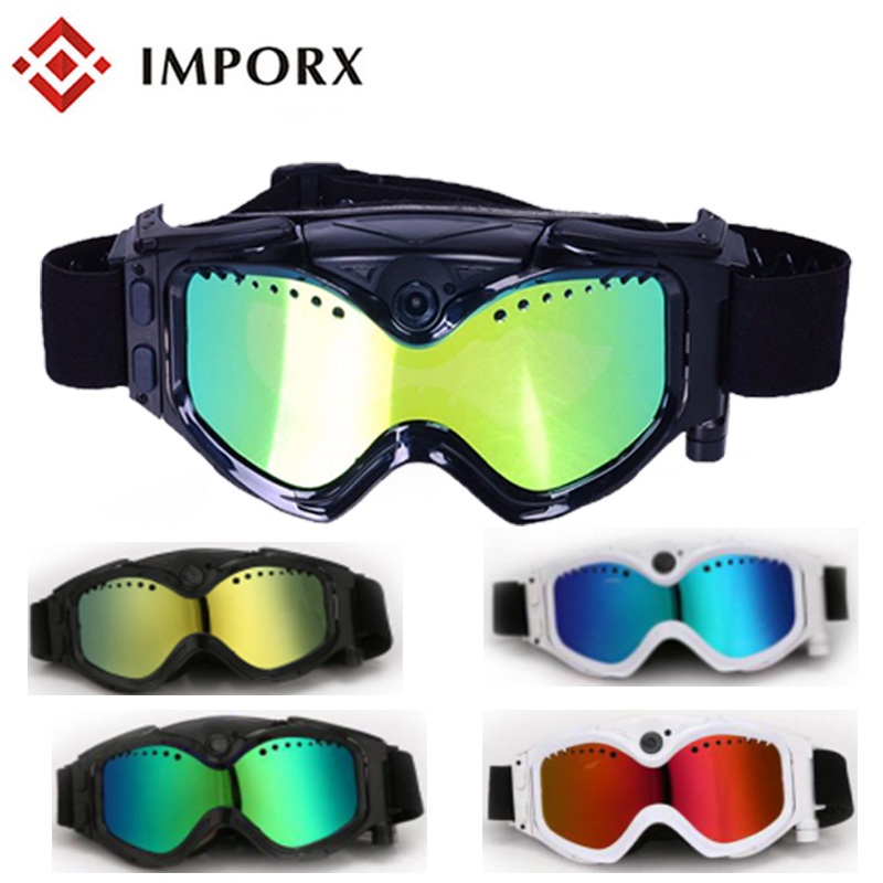 New HD 720P Outdoor skiing goggles Wifi Camera Digital Audio Video Mini DVR Sunglasses Smart Glasses Mini DV Camera mini dv md80 dvr video camera 720p hd dvr sport outdoors with an audio support and clip