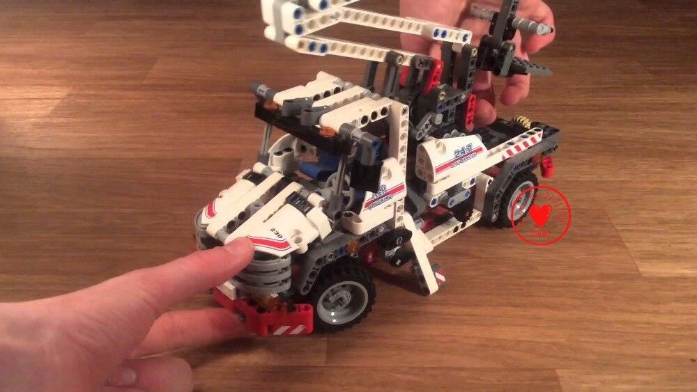 Decool 3350 bucket technic truck Telescopic handler Kids Toy model building blocks bricks set transport Compatible 8071 visa fur handler