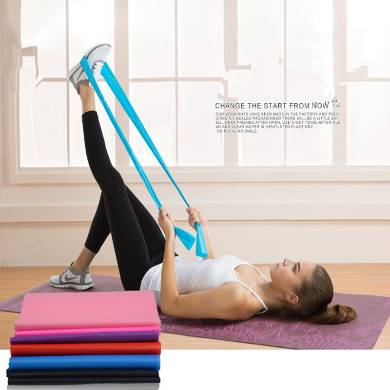 Pilates Mat Workout At Home: Resistance Training Bands Home Fitness Sports Equipments
