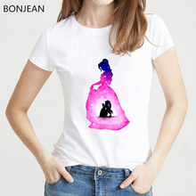 ¡Novedad! Camiseta de princesa de acuarela harajuku kawaii, camiseta blanca para mujer, camiseta novedosa, camiseta divertida para mujer, camiseta de verano para mujer