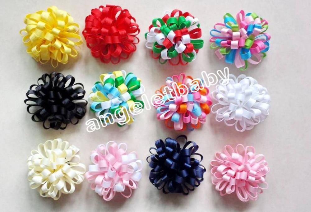 200 шт., повязка с цветами для девочек, заколки для волос, заколки для волос, конский хвост, лента для волос, резинки для волос, аксессуары для волос HD3236